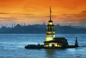 Lighthouse On Bosporus by pat71art
