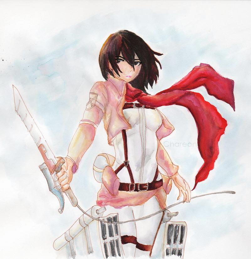 Mikasa Ackerman by Chareon