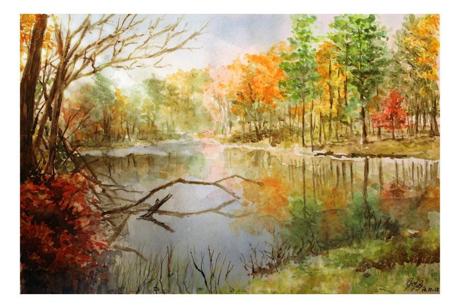 Autumn Lake by Entar0178
