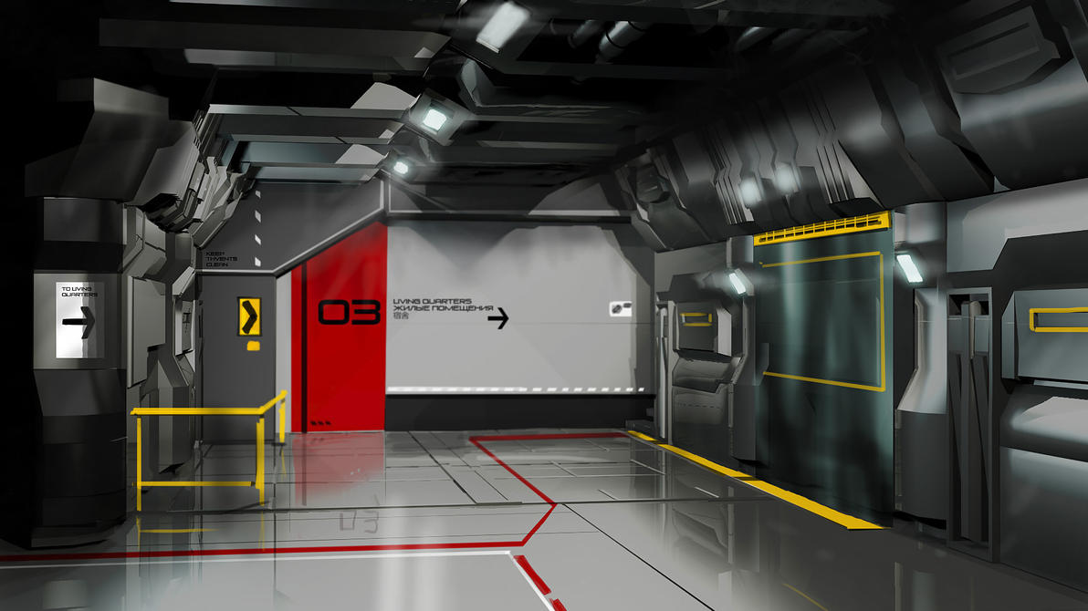 Space Station Interior Concept by Entar0178 on DeviantArt