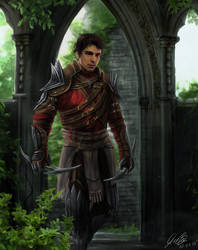 Dragon Age 2 Commission Hawke Rouge Armor by Entar0178