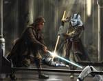 Commission Painting Jedi Temple Assault