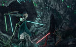 General Grievous Vs Sith Lord Commission Painting