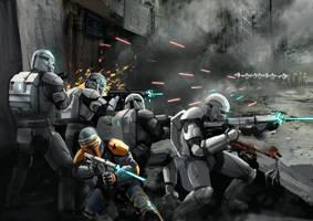 Republic Commando In Battle by Entar0178
