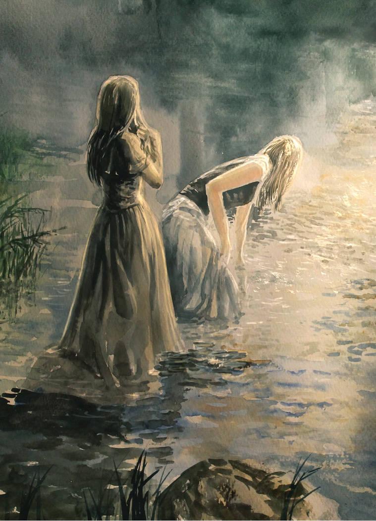 River Watercolor by Entar0178