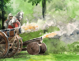 Medieval Cannons Fire