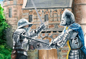 Medieval Knights Duel by Entar0178