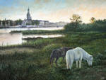 Tranquil Evening Oil Painting