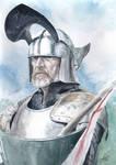 Knight Watercolour Portrait