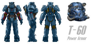 T-60 Power Armor Reference Sheet Commission