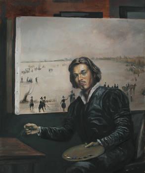 WIP Oil Painting Portrait