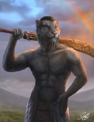 ESO Khajiit Commission by Entar0178