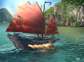 Chineese Pirate Ship Commission by Entar0178
