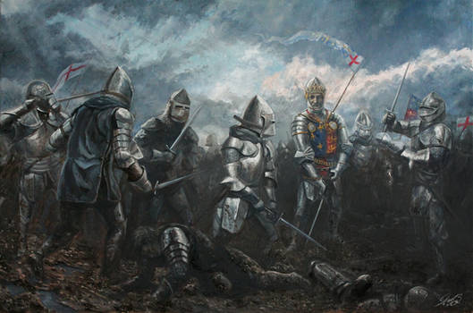 Battle of Agincourt Oil Painting