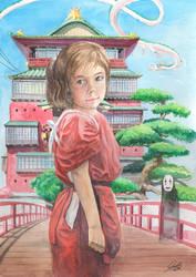 Spirited Away Fanart Watercolour