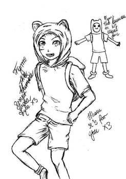 Adventure Time- Fynn the human