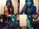 Genderbent Joker Cosplay Makeup Test Collage