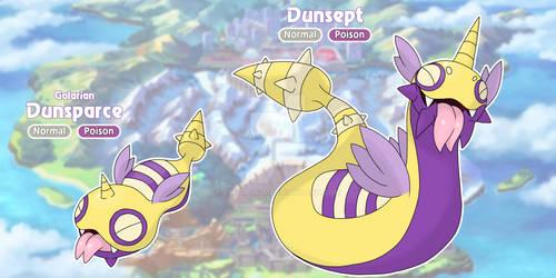 [FAKE] Galarian Dunsparce and Dunsept