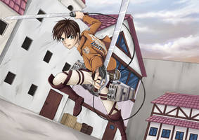 Fan Art : Eren Yeager, Attack on Titan by Wildgrape