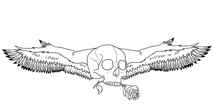 Winged Skull Tattoo By Weezy The Zelda Fanjpg