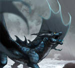 Sea Dragon in the Storm Redraw.