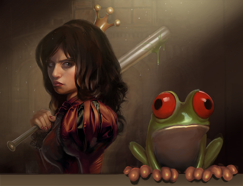The frog and the princess by PapaNinja