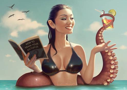 Gong Li and tentacle