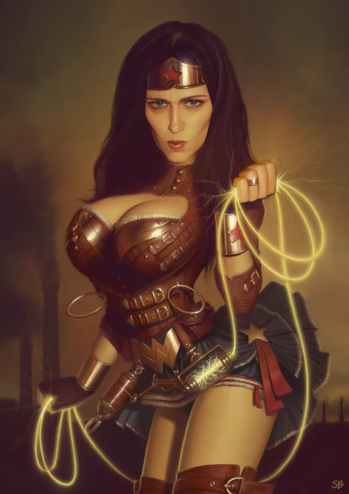 Steampunk Wonder Woman by PapaNinja