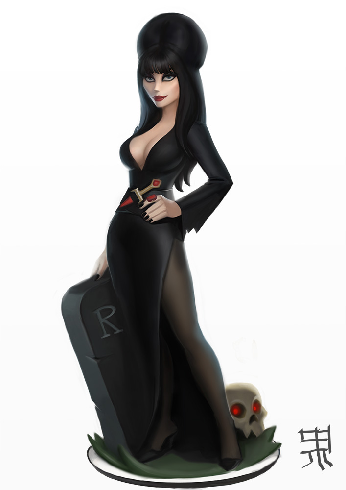 Elvira in Disney Infinity style by PapaNinja