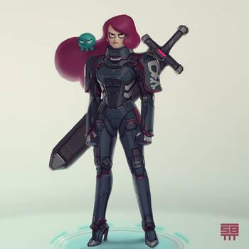 Octavia - Space pirate by PapaNinja