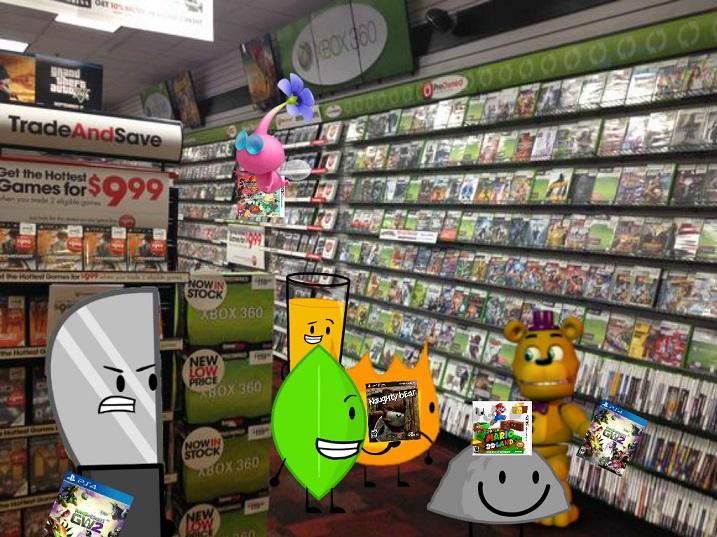 BFDI and Co  Shop at Gamestop by jgjr1051 on DeviantArt