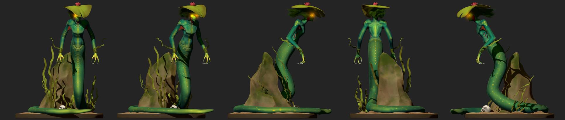 Swamp Mermaid Diorama