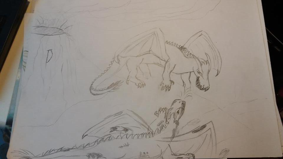 dragon fight by bffgirl06