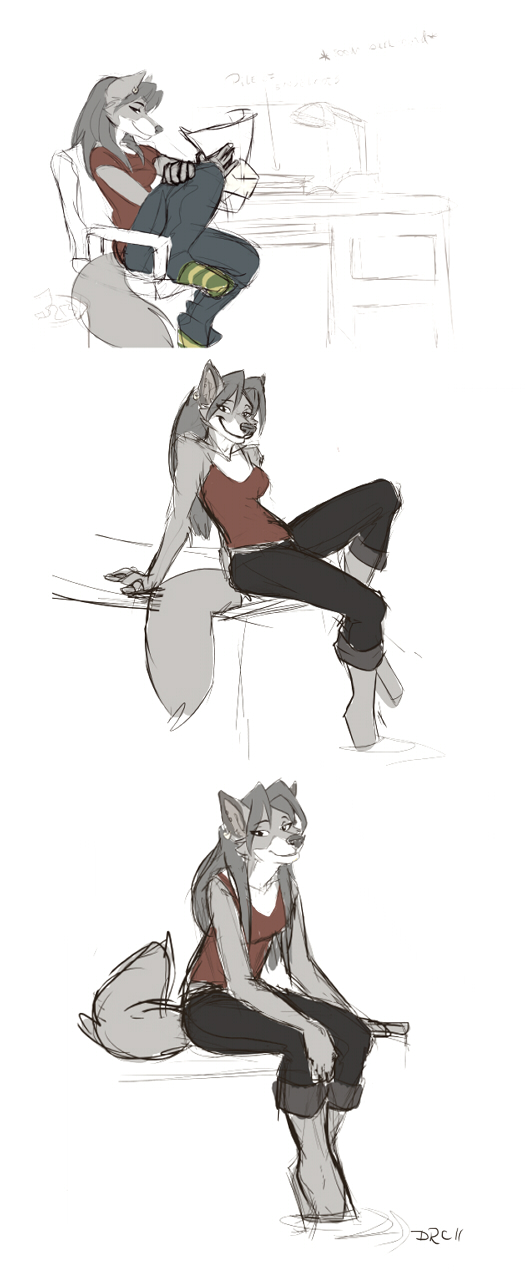 Commission: WolfN85 - sketch by SilverDeni