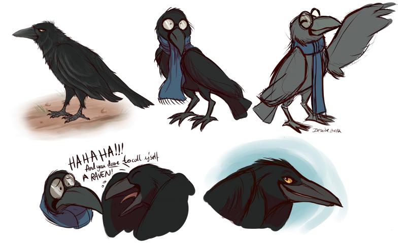 Some Raven Doodles by SilverDeni