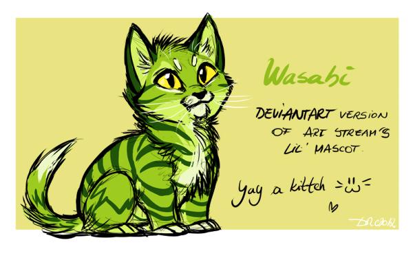 Wasabi the lil' kitten! by SilverDeni
