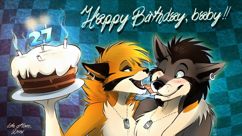 Wolfie Birthday Cake