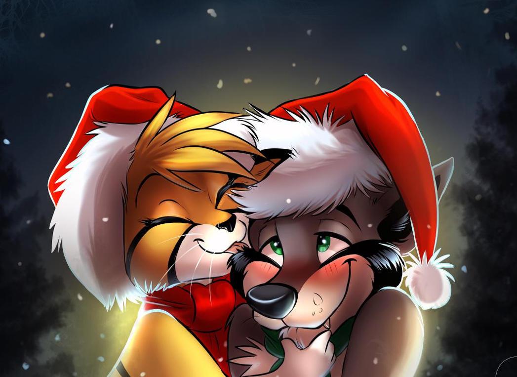 Seasonal Kissies by SilverDeni