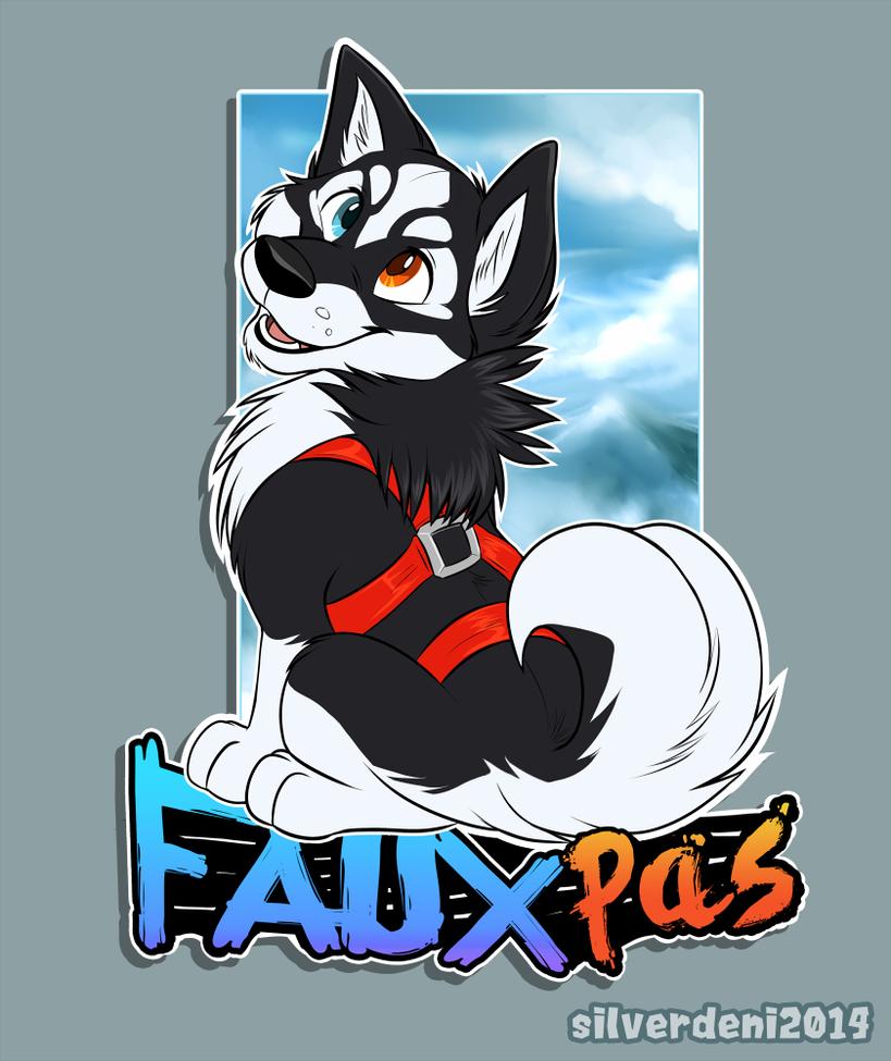 Badge Commission: Fauxpas~Collie by SilverDeni