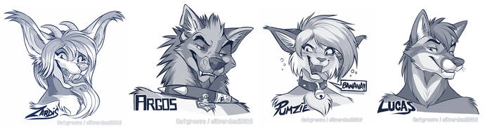 Twitter headshot sketches Part 1 by Synthucard
