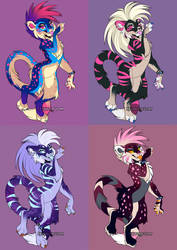 Punk-R0ck big CAT Adopts - Part 3 by Synthucard