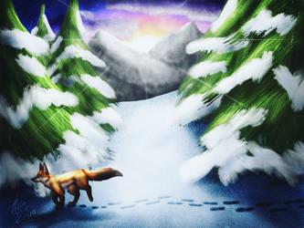 Winter Fox by kookookoo999