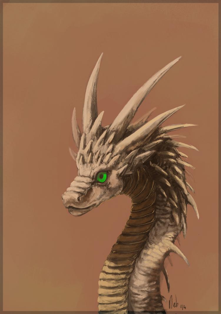 Chinese dragon's head v2 by Nebquerna
