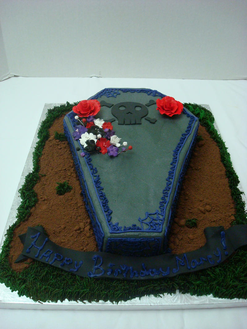 Birthday Cake Coffin
