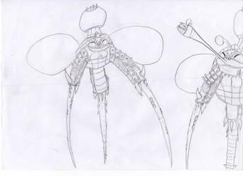 Alien Tripodians sketch by VikingCheese
