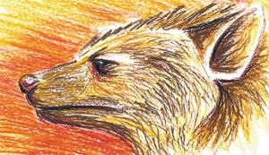 Oil Pastel Hyena