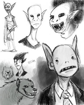 Monstery Sketch Page