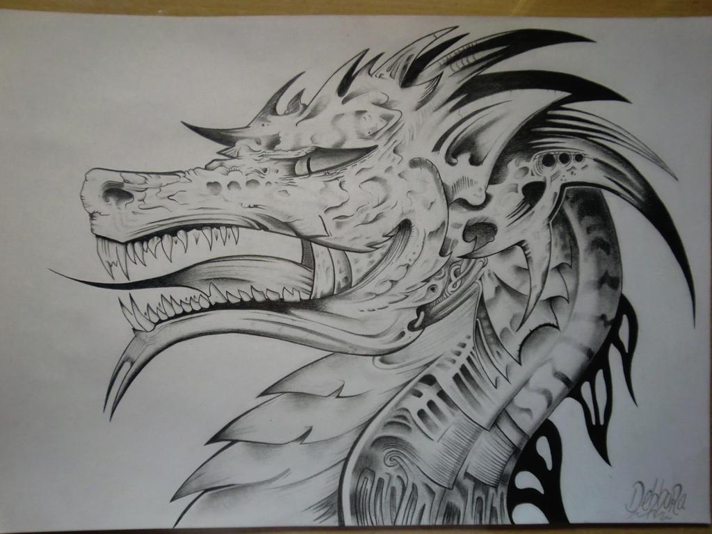 Dragon De Fuego Dibujo A Lapiz Fondos De Pantalla