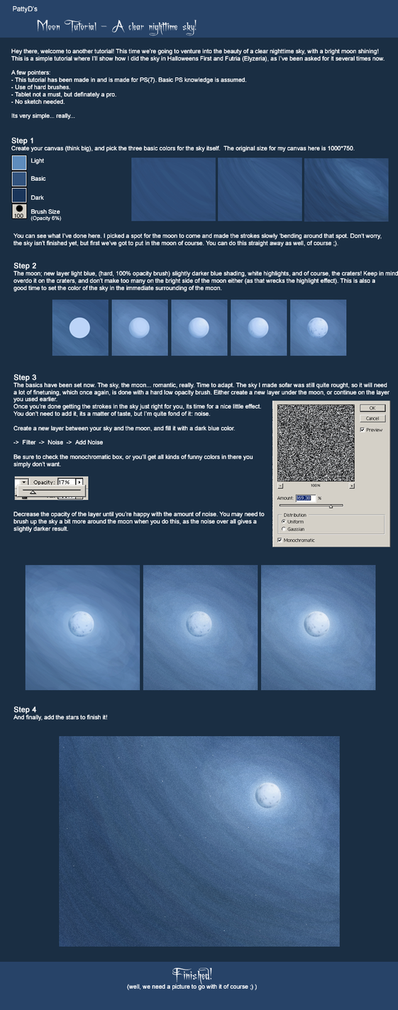 Moon Tutorial by PattyD