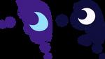 Nightmare and Luna cutie marks